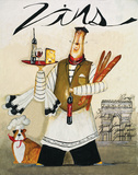 Chef & Wine II Art Print by Jennifer Garant