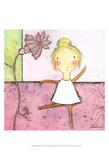 Pink Ballerina Kunstdrucke von Carla Sonheim