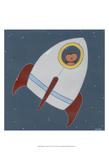 Monkeys in Space I Kunstdrucke von Erica J. Vess