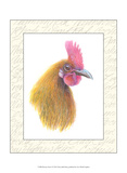 Rooster Insets I Prints by Elissa Della-piana