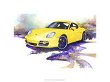 &#39;06 Porsche Cayman Reproduction proc&#233;d&#233; gicl&#233;e Premium par Bruce White