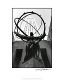 Atlas at Rockefeller Center Premium Giclee Print by Laura Denardo