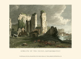 Remains of Priory, Haverford West Prints by T. Allom