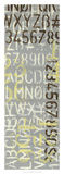Jennifer Goldberger - Numbered Letters I - Giclee Baskı