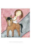 Pink Horse Prints by Carla Sonheim