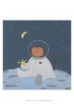 Monkeys in Space IV Poster von Erica J. Vess