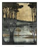Nouveau Trees II Prints by Jennifer Goldberger