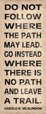 Leave a Trail Plakaty autor N. Harbick