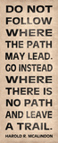 Leave a Trail Poster von N. Harbick