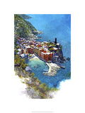 Cinque Terre - Vernazza, Italy Premium Giclee Print by Bruce White