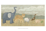 Animals All in a Row I Prints by Megan Meagher