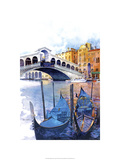 Rialto Bridge - Venice Italy Premium Giclee Print by Bruce White