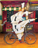 Chefs on the Go Art Print by Jennifer Garant