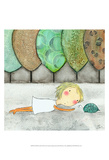 Girl with Turtle Prints by Carla Sonheim