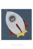 Monkeys in Space II Posters by Erica J. Vess