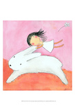 Fairy on Hare Posters by Carla Sonheim