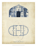 Architectural Blueprint V Prints by Andrew Cook George