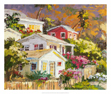 Beach Cottage Community Giclee Print by Erin Dertner