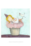 Cupcake Fairy Art by Carla Sonheim