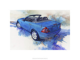 &#39;82 Mercedes SLK Premium Giclee Print by Bruce White