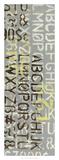 Numbered Letters II Art by Jennifer Goldberger