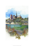 Notre Dame - Paris, France Premium Giclee Print by Bruce White