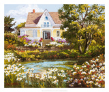 Overlooking the Pond Giclee Print by Erin Dertner