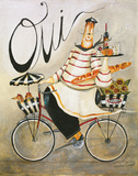 Chef & Wine I Art Print by Jennifer Garant