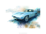 '63 Corvette プレミアムジクレープリント : ブルース・ホワイト