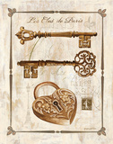 Keys to Paris II Plakater af Gregory Gorham