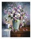 Apple and Cherry Blossoms Giclee Print by Maxine Johnston