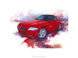 &#39;06 BMW Z4 Reproduction proc&#233;d&#233; gicl&#233;e Premium par Bruce White