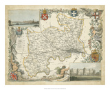 Map of Middlesex Giclee Print