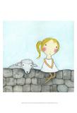 Girl with Lamb Affiches par Carla Sonheim