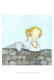 Girl with Lamb Print by Carla Sonheim
