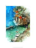 Conca dei Marini - Amalfi Coast Reproduction procédé giclée Premium par Bruce White