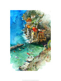 Conca dei Marini - Amalfi Coast Premium Giclee Print by Bruce White