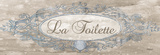 La Toilette Sign Print by Todd Williams
