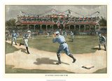 National League Game 1886 Art by Snyder