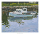 Lobster Boats Prints by Stephen Calcasola