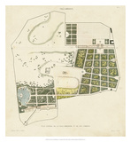 Plan General de la Villa Borghese Giclee Print by Victor Baltard