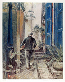 Untitled (Old Man and Stairs) Collectable Print by William Collier