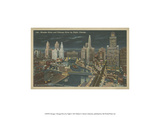 Chicago- Chicago River by Night Prints