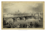 General View of London Giclee Print by William Henry Bartlett
