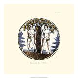 イギリス製のデルフト皿 ジクレープリント : ソロン