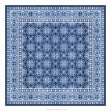 Italian Mosaic in Blue I Print