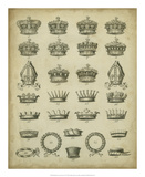 Heraldic Crowns &amp; Coronets IV Print by Milton 