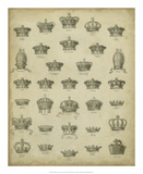 Heraldic Crowns & Coronets V Giclee Print by  Milton