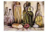 Pasta and Olive Oil Print by Theresa Kasun