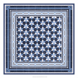Italian Mosaic in Blue III Posters
